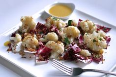 Radicchio and Cauliflower Salad with Toasted Breadcrumbs- from the bitten word. looks delicious!