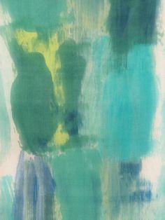 Hand painted silk scarf Painted Silk, Hand Painted, Green Aqua, Yellow, Textile Dyeing, Pistachio Green, Silk Painting, Silk Scarves, Shades Of Green