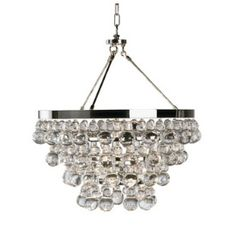 Robert Abbey Lighting S1000 Bling - Chandelier With Convertible Double Canopy.