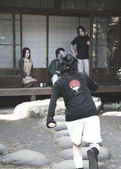 Sasuke and Itachi with their parents