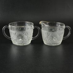 Hey, I found this really awesome Etsy listing at https://www.etsy.com/listing/179958381/crystal-sandwich-pattern-creamer-sugar