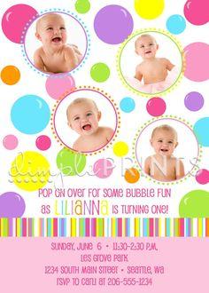 Bubble invite for Charlotte's 2nd birthday