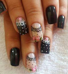Toe Nail Color, Nail Colors, Nail Drawing, Romantic Nails, Nails Now, Dot Nail Art, French Nail Art, Toe Nail Designs, Hot Nails