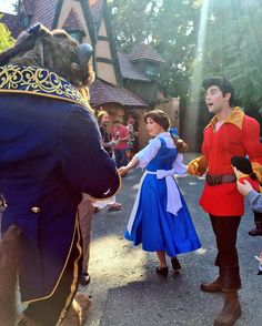 Beast Belle and Gaston