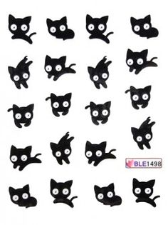 Stickers ongles Nail tatoo Chat 60 unités