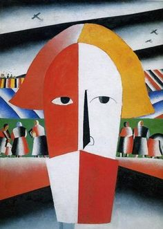 Kazimir MALEVICH - Head of a Peasant, 1929 *Pioneer of the Russian avant-garde, the founder of Suprematism (Ukrainian/Russian, Kandinsky, Canvas Art, Canvas Prints, Art Prints, Canvas Size, Kazimir Malevich, Russian Avant Garde, Harlem Renaissance, Art Abstrait