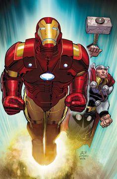 Iron Man & Thor by John Romita Jr.