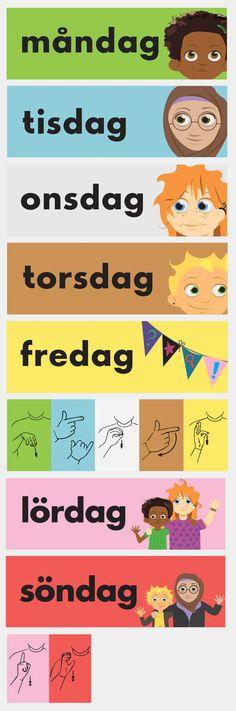 Veckodagarna mån-sön – x 5 Learn Swedish, Creative Writing Ideas, Teacher Hacks, Writing Inspiration, Fun Activities, Kids Learning, Kindergarten, Homeschool, Classroom