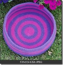 cat basket, free crochet pattern & felting instructions