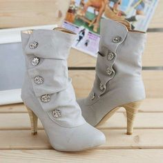 Sexy Rhinestone Women High Heeled Boots   Daisy Dress for Less   Women's Dresses & Accessories