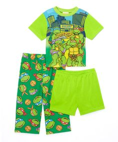 Loving this Green Teenage Mutant Ninja Turtles Pajama Set - Toddler on #zulily! #zulilyfinds