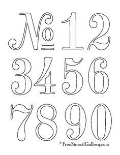 printable number templates