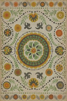 Pura Vida Home Decor - Pattern 38 Autumn vinyl floor cloth, $49.00 (http://stores.puravidahomedecor.com/pattern-38-autumn-vinyl-floor-cloth/)