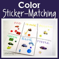 Fun and easy color activity for preschoolers!