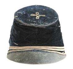 Head Gear; Kepi, Civil War, Confederate, Georgia 18th Regiment, Officer.