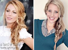 How to Hairstyle Inspired by Blake Lively by twistmepretty www.skiptomylou.org #hairstyles #hairtutorials #twistmepretty