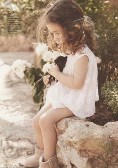 hair - this little girl is so cute. i hope at least one of my daughters has curly hair like her and like me.