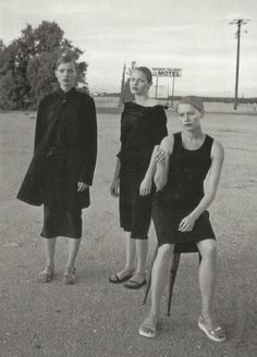 an allure story, esther canadas, carolyn murphy and unknownby peter lindbergh for vogue italia may 1998