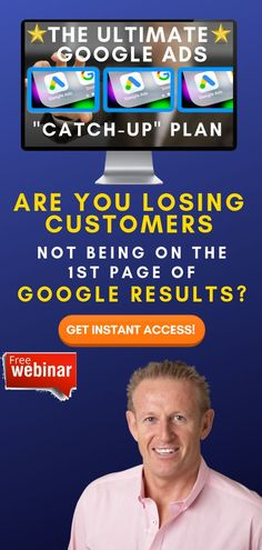 """Running Your Own Business Comes With A Lot Of Challenges...  Advertising Doesn't Need To Be One Of Them.  What If You Could Create Ad Campaigns That Actually Work?  [FREE] Training: The Ultimate Google Ads """"Catch Up"""" Plan  Get Instant Access Now!  #googleads #adwords #leadgeneration #businessgrowth  #sellonline #onlinebusiness #onlinemarketing Seo Marketing, Online Marketing, What Is A Podcast, Thank You Email, Local Seo Services, Google Ads, Instant Access, Ad Campaigns, Free Training"""