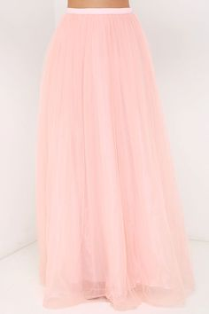 Scoop of Sorbet Blush Tulle Maxi Skirt at Lulus.com!