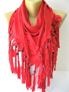 Red Scarf Fashion Shawls Scarves-gift Ideas For Her