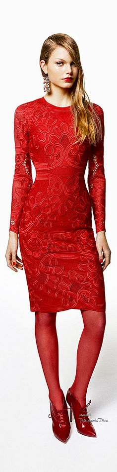 Blumarine Pre-Fall 2015 women fashion outfit clothing style apparel @roressclothes closet ideas