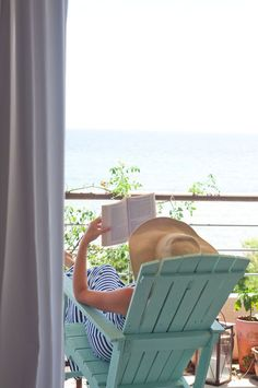 Relax and read by the sea