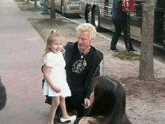 Billy Idol w/ his daughter