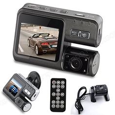 NOVPEAK [U.S. Stock] Dual Lens Dash cam Car DVR Video Recorder with Rear View Camera with 170 Wide Angle Night Vision G-Sensor Loop Recording and Motion detection - Auto Dashboard Car Camcorder