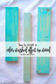 Featured at #CreateItThursday: A simple technique to get a fabulous color washed effect on wood!