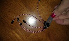 pink and black beads