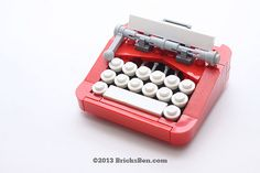 Tiny retro #LEGO typewriter goes clickity clack