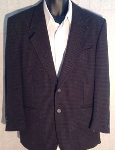 Men's Regular Nino Cerruti Rue Royal Green/Black Blazer Suit Jacket Sport Coat #NinoCerruti #BlazerSportcoatSuitJacket