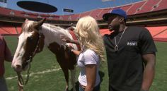 NFL Player Bravely Overcomes Fear Of Own Team's Mascot  His team's mascot is a horse.