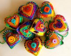 felt + stitching = hearts