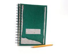 recycled blank journal unique fish leather green by MisturIceland