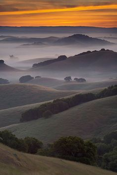 Hills on Northern County, California, USA, by Michael Ryan, on 500px.