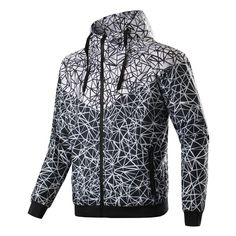 f095b0c8869 New Spring And Fall new men s sports jacket hooded jacket Men casual Fashion  Thin Windbreaker Zipper Coats