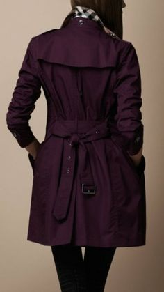 Plum coloured Burberry Trench Coat (FILEminimizer), #fashion, #outfit, #dress,