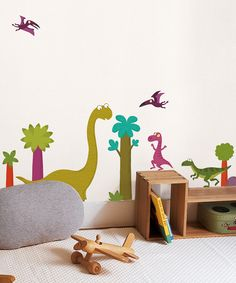 Dinosaurs! How fun is this?? #zulily