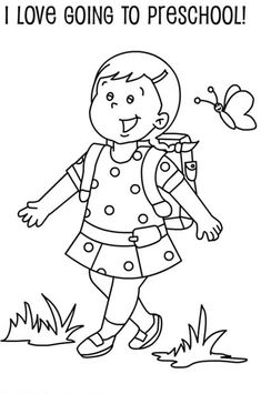 First Day Of School Coloring Page Beautiful First Day School Coloring Pages for Kindergarten at Math Coloring Worksheets, Kindergarten Coloring Pages, Kindergarten Colors, Pre Kindergarten, Kindergarten Worksheets, Online Coloring Pages, Cartoon Coloring Pages, Coloring Pages For Kids, Coloring Books