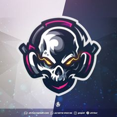 Hire me if you want awesome logos Available for commision work Skull Game, Game Logo Design, Esports Logo, Skull Logo, Photography Logo Design, Skull Design, Environmental Art, Cool Logo, Logo Design Inspiration