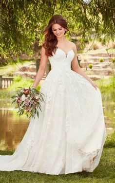 A little boho but all kinds of dreamy for this Essense of Australia wedding dress! Wedding dress available at The Bridal Boutique by MaeMe, Louisiana Formal Dresses For Weddings, Wedding Dress Sizes, Plus Size Wedding, Perfect Wedding Dress, Boho Wedding Dress, Dream Wedding Dresses, Designer Wedding Dresses, Bridal Dresses, Wedding Gowns