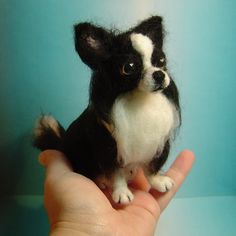Chihuahua dog custom needle felted art or by DreamwoodArtDesigns, $139.00    awe! and wow well done!