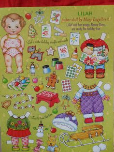 Lilah paper dolls by Mary Englebreit sister to by MyHomeAntiques