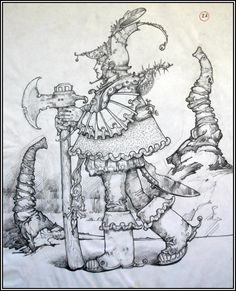 Patrick Woodroffe drawing. I have 5 originals at home, and he used to give me a lift to school every day when I was a wee nipper!