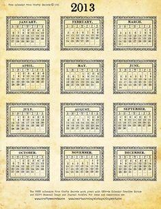 2013+calendar
