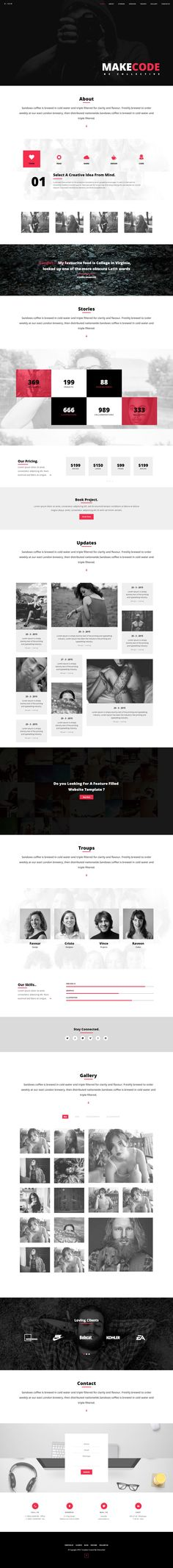 Ogden Creative Multi style One Page Template >Featuring 07 home page variants with Unlimited Colors, Fullscreen Image Sliders, Fullscreen Video, Parallax and Google Web Fonts integrated . Also includes additional pages such as blog page, single-project page with a working contact form PHP email sending. #responsive #website #templates