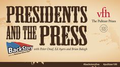 Join the History Guys - Peter Onuf, Ed Ayers and Brian Balogh - as they explore the complicated relationship between America's presidents and the fourth e History Guy, Complicated Relationship, University Of Virginia, Auditorium, American History, Presidents, The 100, Anniversary, Free