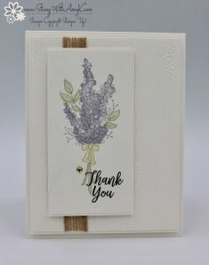 Stampin' Up! Lots of Lavender Thank You Card – Stamp With Amy K